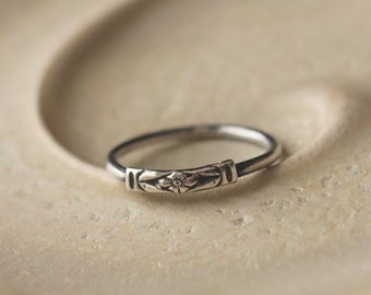 SALE - Forget-Me-Not: sterling silver floral design (made to order) - ring