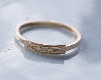 Forget-Me-Not: 14K Yellow Gold (made to order) - ring