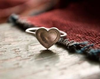 Serce. Corazón. Heart.: two hearts - ring