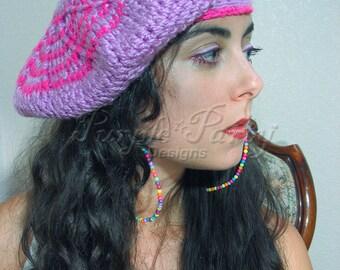 3398b284521 Beret Pink winter and fall accessories flat hats applejacks womens hat