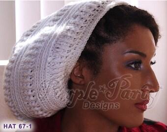 226b12bd7e4 Slouchy Beanie hat tam rasta large hat winter fall hat women hat mens hat  dreadlock hats accessories
