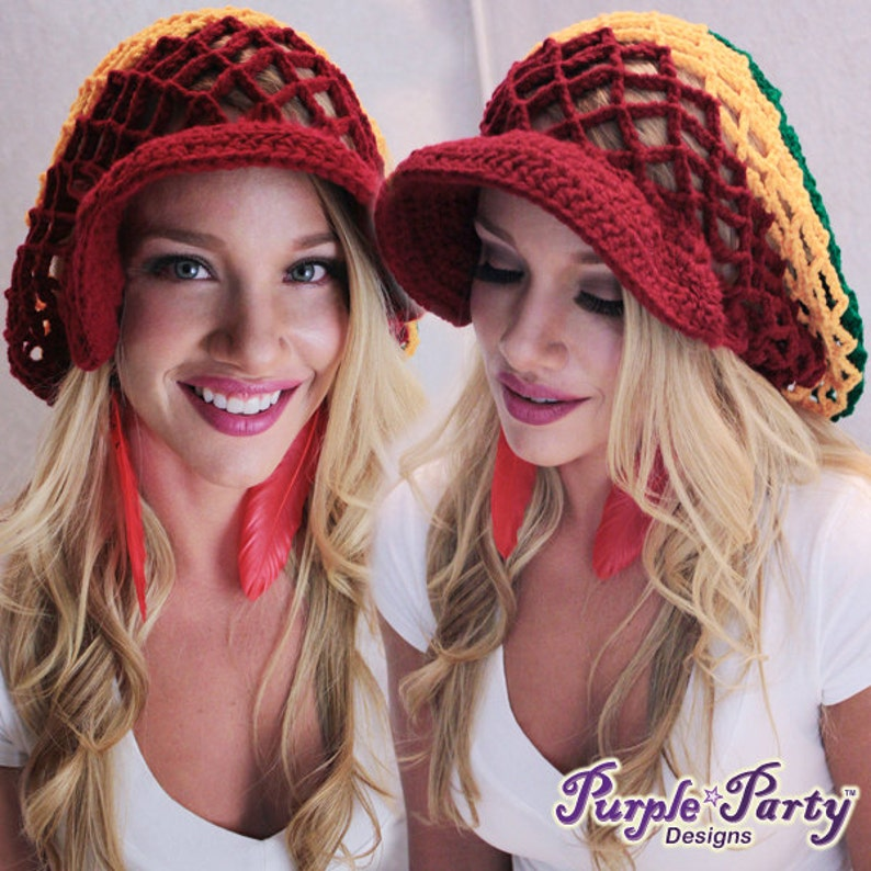 da43a03b1ad Crochet mesh hat rasta mesh hat mesh hat hats crocheted hats