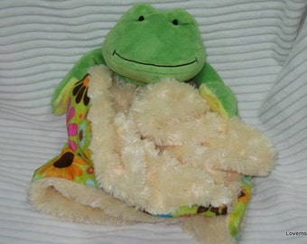 Security Blanket  Lovie Baby Blanket Frog - Lovems