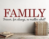 Family wall decal family wall stickers family gift for mom home office decorations family vinyl decal farmhouse wall decor accents