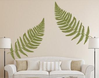 Fern Wall Decal, Large Leaf Decals, Vinyl Wall Decal Leaves, Botanical Wall  Decor, Botanical Decor, Earthy Decor, Fern Sticker, Home Office