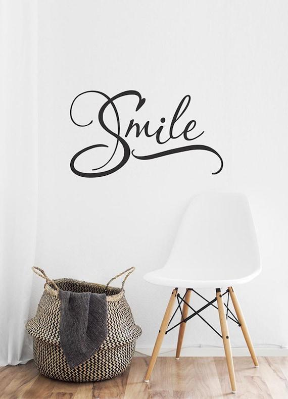 smile wall decal smile vinyl decal smile word art dentist   etsy