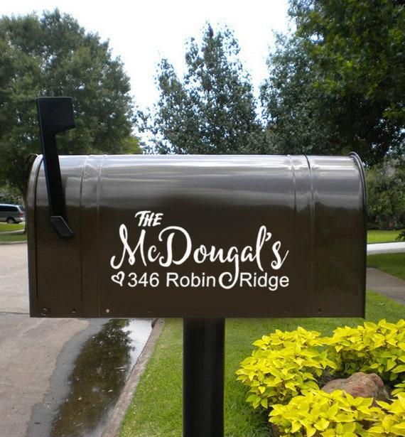 Farmhouse Mailbox Decal Family Name Mailbox Decal Mailbox Etsy