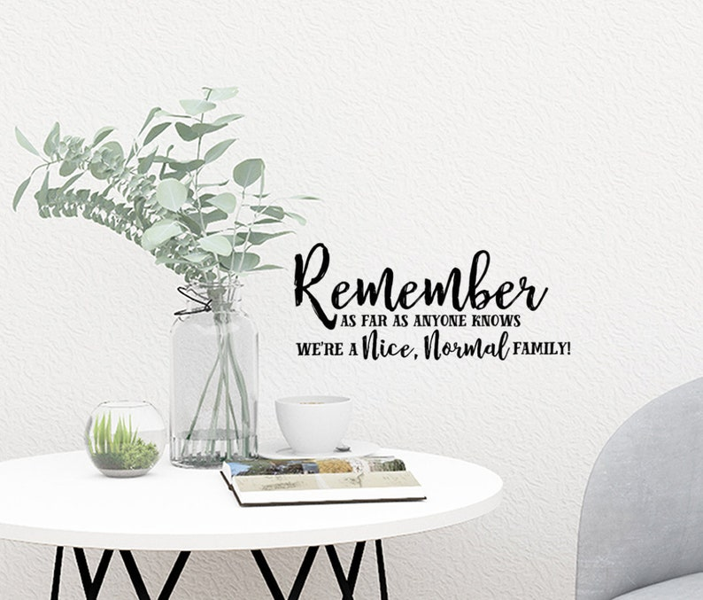 family wall decal family vinyl decalremember as far as | etsy