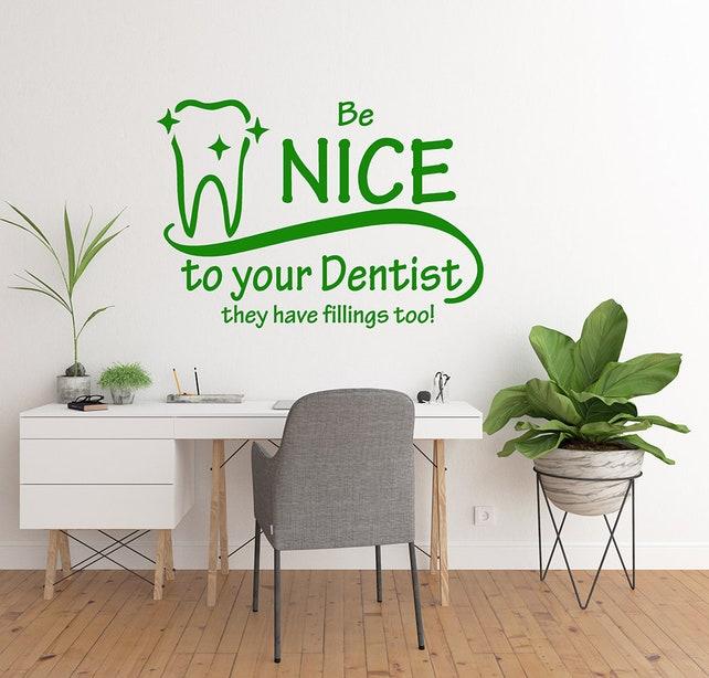 Orthodontist Dentist Decal Dentist Office Wall Decor Wall | Etsy