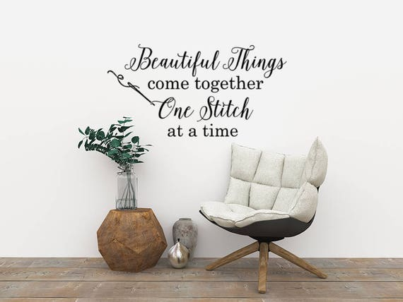 Craft Room Wall Decor Beautiful Things Come Together One | Etsy
