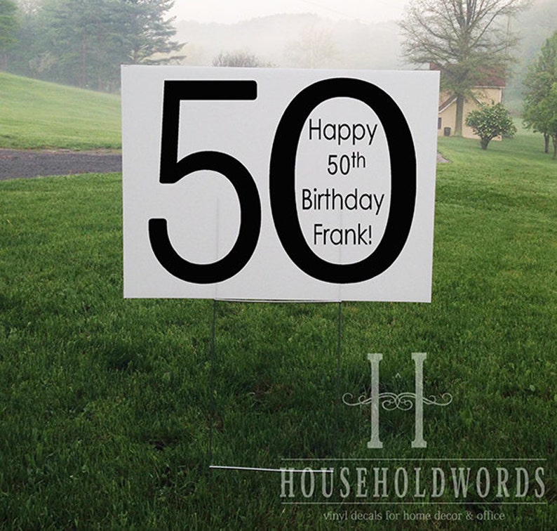 Custom Birthday Yard Sign Corrugated Yard Sign Custom Yard