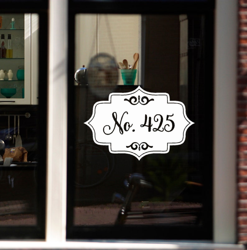 Glass Door Decals For Business.House Number Decal Office Address Decal Business Address Decal Glass Door Number Decal Street Number Decal Home Address Decal Oval