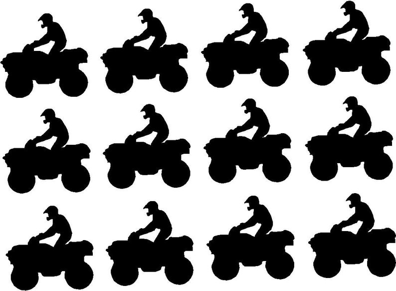 ATV Quad Vinyl Decal Stickers 4 Wheeler Decals Boys Birthday