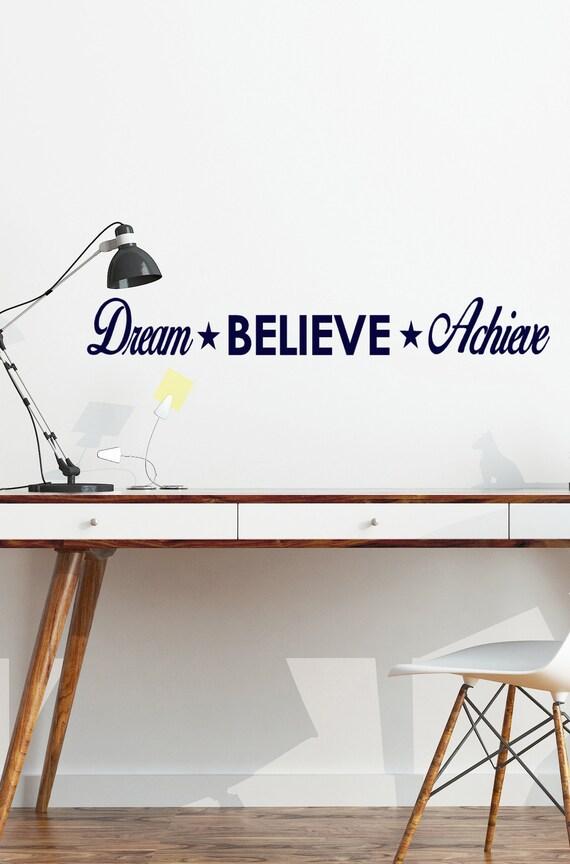 Classroom Wall Decal Dream Believe Achieve Classroom Decor Dream Wall Decal Teachers Classroom Middle School Teacher Inspirational Gift
