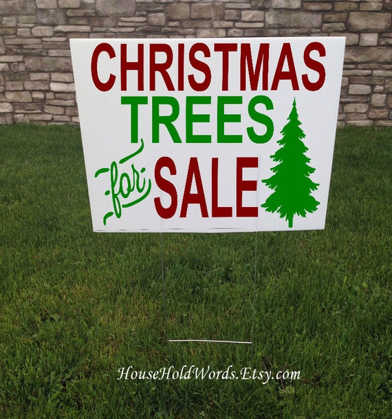 Christmas Trees For Sale.Christmas Trees For Sale Yard Sign Christmas Yard Sign 24 X 18 Corrugated Outdoor Yard Signs Trees For Sale Yard Stake Christmas Sign