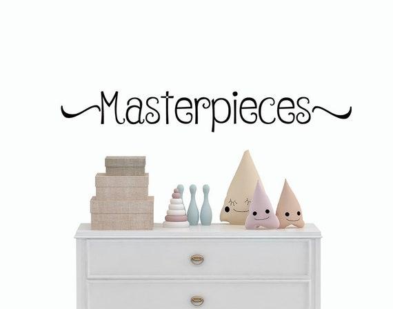 chefs d 39 uvre sticker sticker salle de jeux enfants etsy. Black Bedroom Furniture Sets. Home Design Ideas