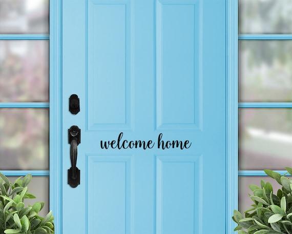 Welcome Home Door Decal Welcome Home Decal Welcome Door | Etsy