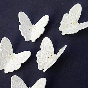 Large Ceramic Wall Art Set 3d Butterfly Original Artwork 21 Etsy