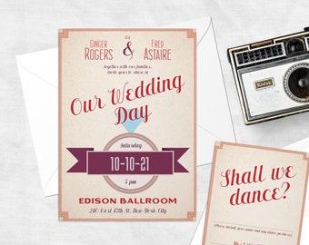 Swing Time Retro Wedding Invitations