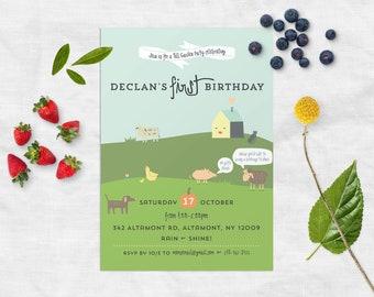 Children's Farm Birthday Party Invitation