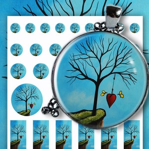 25 digital download circle images for round pendants RAPUNZEL printable square and round 16 magnets 50 mm instant download bezels 20