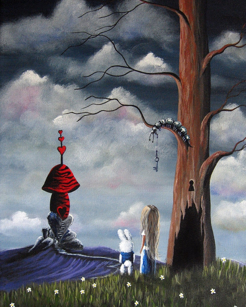 LIMITED EDITION PRINT  Alice In Wonderland  Wonderland Art image 0