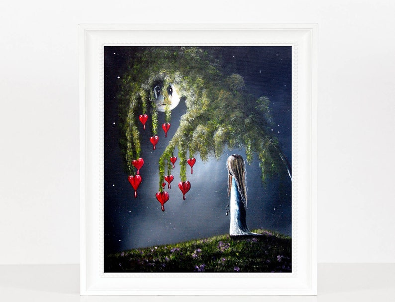 Art Prints Gothic Art Fantasy Art Pretty Dreamy Art Wall Etsy