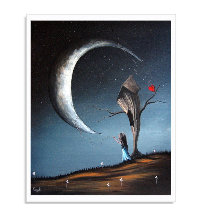 Art Wall Art Art Print Best Selling Art Artist Moon Etsy