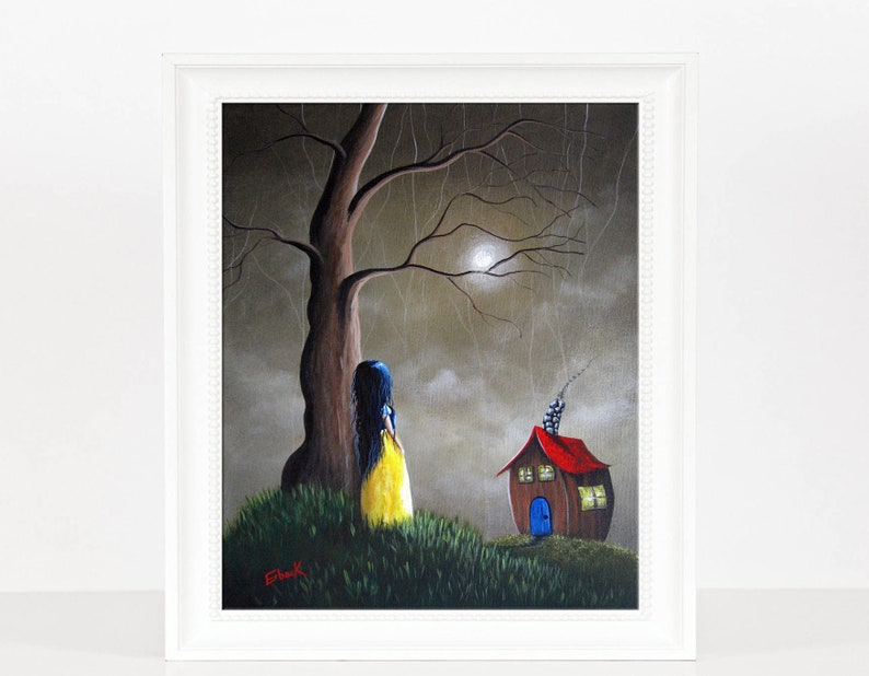 LIMITED EDITION PRINT snow white art prints art painting image 0