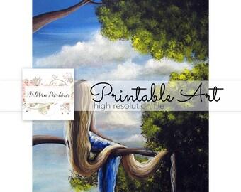 Scrapbooking Printable - Printable - Fairytale Prints - Whimsical - Fantasy Fairytale Stories - Decor Ideas - Gift Ideas - Cardmaking - Digi