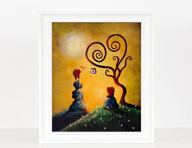 happy art colorful art art with hearts wall art prints image 0