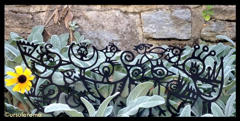 Wild Birds. Garden Border or Wall Art image 0