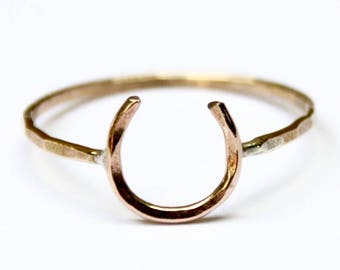 Lucky Horseshoe Ring Equestrian Ring Equestrian Jewelry Good Luck Ring
