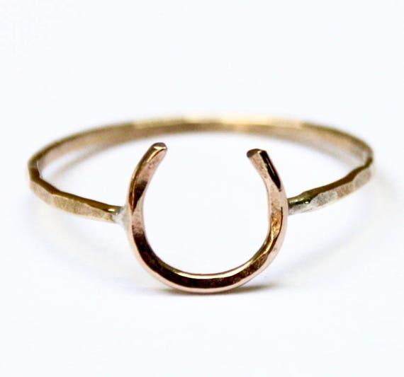 or ou argent Jennifer cervalli bijoux Lucky Fer à Cheval Double Manchette-Cuivre