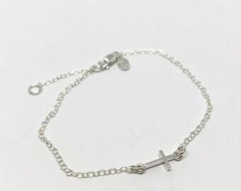 Sideways Cross Bracelet - Cross Bracelet