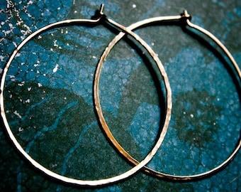 XL Hoops, Extra Large Hoops, Crescent Moon Rustic Hoops, Large Hoop Earrings, Large Silver Hoops, Lightweight Hoop Earring, Stocking Stuffer