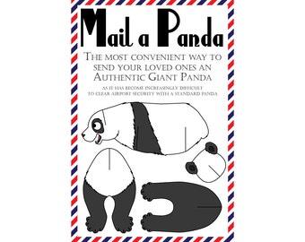 """Panda Postcards, Set of 8 """"Mail a Panda"""" Postcards"""