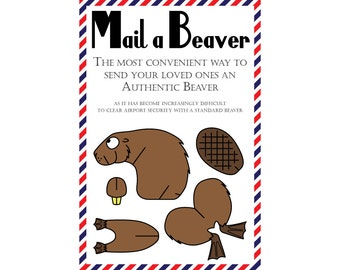 "Beaver Postcards, Set of 8 ""Mail a Beaver"" Postcards"