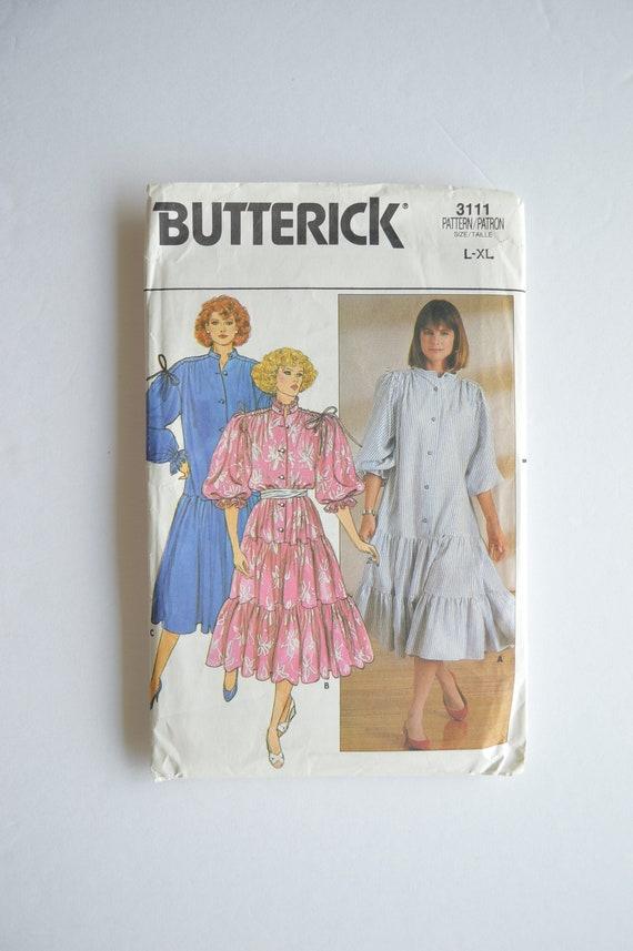 48d21eccb3 1980s Vintage UNCUT Butterick Sewing Pattern 3111 Prairie Chic