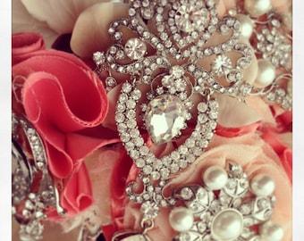 Art deco rhinestone brooch crystal brooch broach for DIY wedding projects, brooch bouquet, bridal sash, invitations