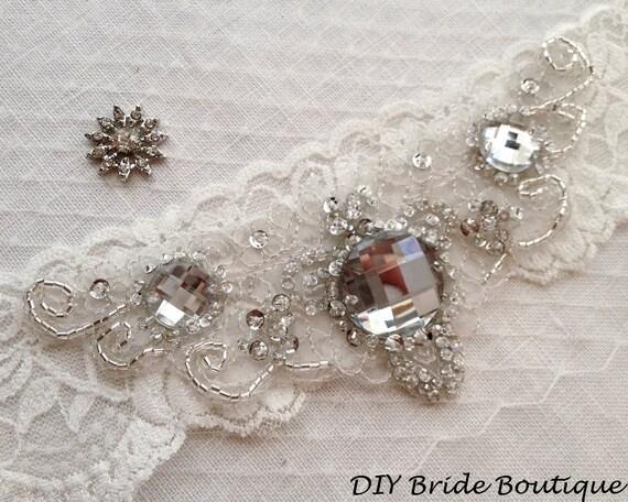 Rhinestone Applique Art Deco Couture Crystal Applique Etsy