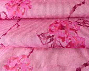 Pre-WW2 Meisen in Pink  // Japanese Kimono Fabric // Last Piece!