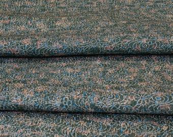 Delicate Details on Dark Green // Japanese Kimono Fabric