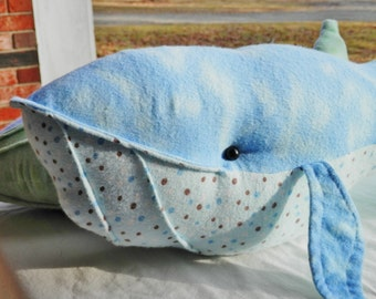 stuffed animal, toy, stuffed toy, whimsical, kids, children, aquatic, whale