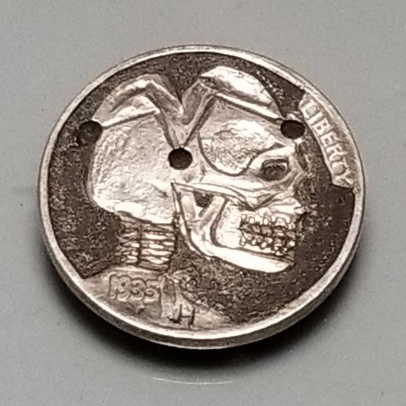 Jester Skulled Hobo Nickel