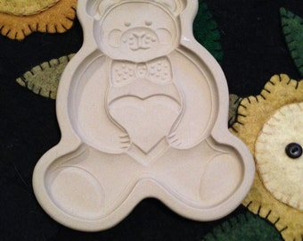 The Pampered Chef - 1991 Teddy Bear - Cookie Art Mold - Valentine!