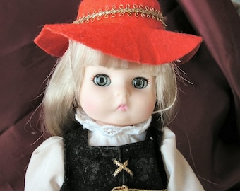 Effanbee Lil Innocents Internat'l doll - Germany - 1988 - hangtag and stand