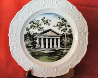 Vintage Robert E Lee Mansion commemorative souvenir plate