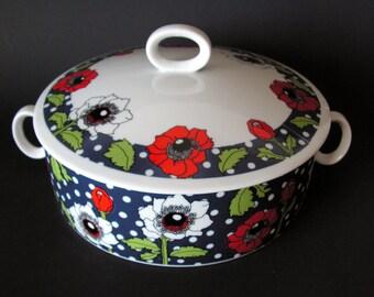 Georges Briard Polka Poppy oven casserole