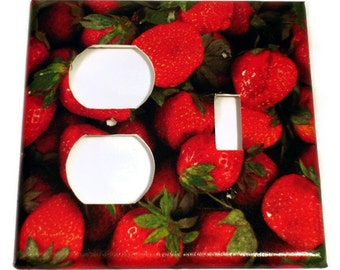 kitchen light switch cover strawberry wall decor combo switchplate in very berry 249c - Strawberry Kitchen Decoration